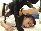 Asian whore forced by dog